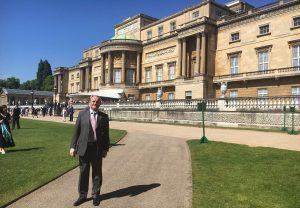 Gerry Sommers at Buckingham Palace for ROSPA Patron Award
